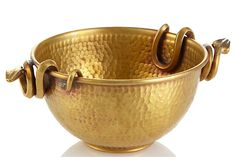Martyn & Mary, Small Brass Snake Handle Bowl x 169 - orig. Decorative Objects, Decorative Accessories, Home Accessories, Decorative Bowls, Porcelain Clay, Copper And Brass, Indian Home Decor, Traditional House, Luxury Furniture