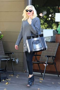 342bb2a515a Photo Gwen Stefani wears an oversized sweater to hide her baby bump while  leaving Planet Nails   Spa on Wednesday (October in West Hollywood