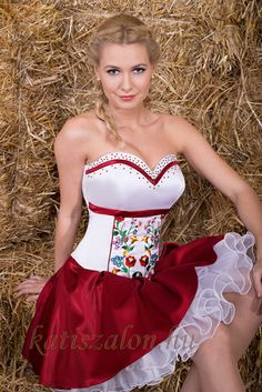 One of the new collection source: katiszalon. Short Dresses, Summer Dresses, Formal Dresses, Wedding Dresses, Folklore, Hungarian Women, Female Girl, Folk Costume, Costumes