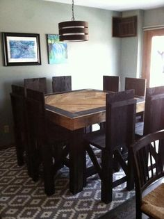 Kitchen table high top dining sets 38 Ideas for 2019 High Top Table Kitchen, High Dining Table, High Top Tables, Kitchen Tops, Table And Chairs, Kitchen Ideas, Dining Room, Kitchen Tables, Rustic Kitchen