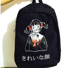 Korean Japanese fashion trendy Masked Kawaii Girl Student Backpack Bag Rucksack Harajuku