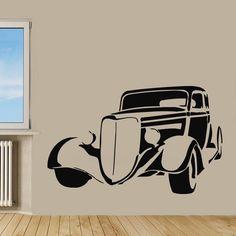 Wall Decals Vinyl Decal Sticker Art Murals Home Decor Retro Car Design Kj908 #MuralArtDecals