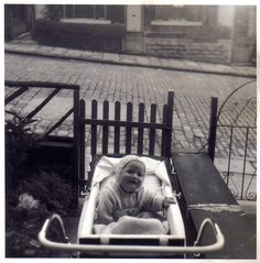 Clifford in Pram Cobbled street 1968 Vintage Pram, Baby Prams, Baby Carriage, Cliff, Old Photos, Baby Kids, Photographers, Europe, Actresses