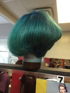 One Of My Lovely Student Create 45 Degree Diagonal Forward Hair Cut.