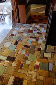 Mosaic Crafts, Mosaic Art, Mosaic Tiles, Sea Glass Mosaic, Fused Glass Art, Simple Workbench Plans, Porch Tile, Kitchen Mosaic, Mosaic Stepping Stones