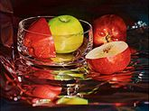 Mary Pratt-Glassy Apples (Oil on Canvas)