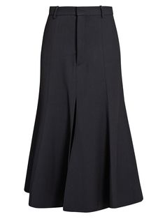 Fit-and-flare twill midi skirt | Raey | MATCHESFASHION.COM