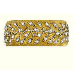 a diamond-set bangle - Buccellati Gold Diamond Earrings, Diamond Bracelets, Ankle Bracelets, Jewelry Bracelets, Jewelery, Bangles, Women's Jewelry, Silver Jewellery, Necklaces