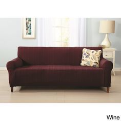 Home Fashion Designs Darla Collection Platinum Strapless Cable Knit Form Fit Sofa Slipcover