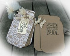 "Advice for the Bride -Wedding Bridal Shower Game-Tag Book- Guest Book Alternative-""Bridal Shower""//Bridal shower idea- your choice of stamp by MerryMeDesign on Etsy https://www.etsy.com/listing/178143922/advice-for-the-bride-wedding-bridal"