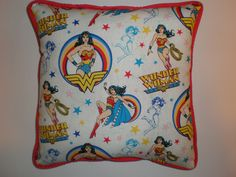 Wonder Woman Pillows by GoughGoodies on Etsy