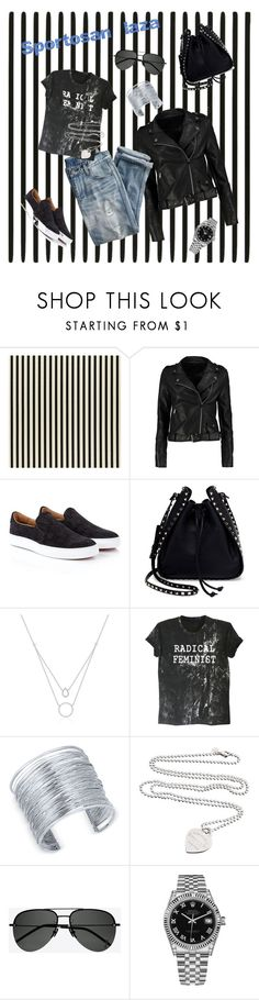 """""""Homework1"""" by fincsoka on Polyvore featuring Boohoo, Vivienne Westwood, Valentino, J.Crew, INC International Concepts, Tiffany & Co., Yves Saint Laurent and Rolex"""