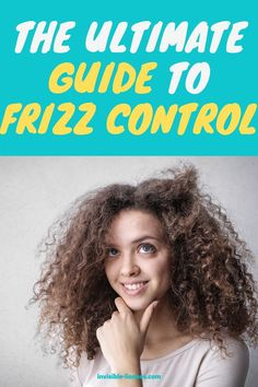 No matter if you have dry, curly, natural, fine, or some other type of hair, we all wonder how to get rid of frizz. This ultimate guide to frizz control will help you out! Healthy Hair Tips, Healthy Hair Growth, Hair Growth Tips, Growing Out Short Hair Styles, Grow Long Hair, Curly Hair Styles, Vitamins For Hair Growth, Hair Vitamins, Diy Hair Care