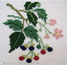 Embroidery ... The holiday, which is always with me...: Bramble Kazuko