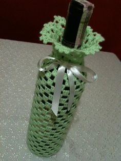 Hand Lace Crochet Wine Bottle Cover