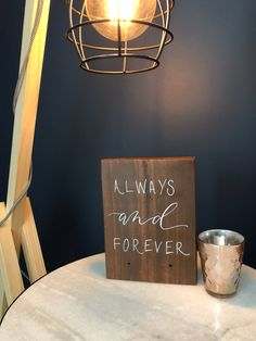 Your place to buy and sell all things handmade Walnut Timber, Reclaimed Timber, Wedding Quote, Wedding Signs, Nail Holes, Always And Forever, White Paints, Valentine Day Gifts, Wood Signs