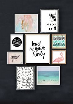 Cadres & affiches mixant imprimés et typo // Home Sweet Home Cosy // Hëllø Blogzine www.hello-hello.fr
