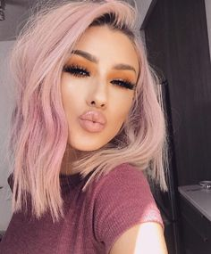 Pink ombre Beauty What do in 2020 Hair color pink Pink ombre Beauty What do in 2020 Hair color pink Lsybeauty Hair Light Pink Hair, Pastel Pink Hair, Hair Color Pink, Cool Hair Color, Pretty Pastel, Rose Pink Hair, Pastel Blonde, Pink Blonde Hair, Cute Hair Colors