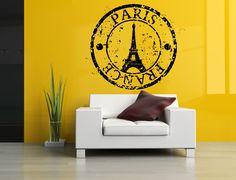 Wall Room Decor Art Vinyl Sticker Mural Decal France Paris Logo Big Large AS988