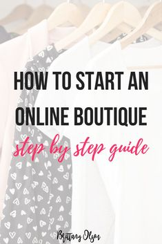 How To Start An Online Boutique Step By Step Guide. Find Wholesale Clothing, Purchase Boutique Inventory, Best Ecommerce Platform from B. Business Planning, Business Tips, Online Business, Starting An Online Boutique, Online Clothing Boutiques, Online Clothes, Dresses Online, Diy Jewelry Findings, Startup