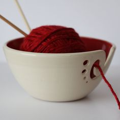 Hey, I found this really awesome Etsy listing at https://www.etsy.com/listing/223587524/red-ceramic-yarn-bowl-yarn-bowl-knitting