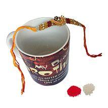 Designer Rakhi with Personalised Mug