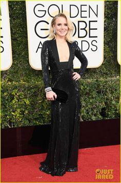 Kristen Bell & Dax Shepard Arrive in Style for Golden Globes 2017