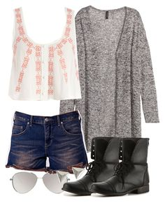 """""""Malia Inspired School Outfit"""" by veterization ❤ liked on Polyvore featuring H&M, ASOS, Free People and Steve Madden"""