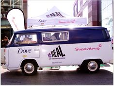 Branded VW Camper experiential campaign - Dove - Buttercup Bus
