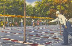 Shuffleboard Courts~ St. Petersburg, Florida - Downtown St. Pete - save a whole day to wander around, eat and shop!