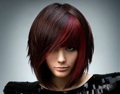 red and orange highlights on black hair - Google Search