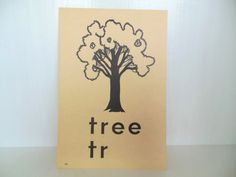 Vintage Picture Flash Card Tree Large 8 by by vintagebytheseashore