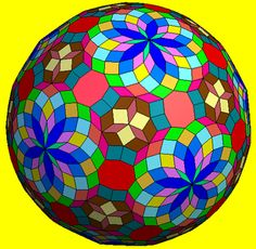 Transformation of truncated icosahedron by zonohedrification Geometric Solids, Geometric Origami, Drawing Art, Line Drawing, Art Drawings, Conceptual Framework, Fractals, Adult Coloring, Color Patterns