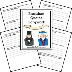 FREE copywork pages filled with quotes by George Washington and Abraham Lincoln.