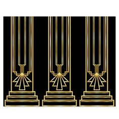 Transform your living room into a party venue of the roaring 1920s with this Great 20's Backdrop.
