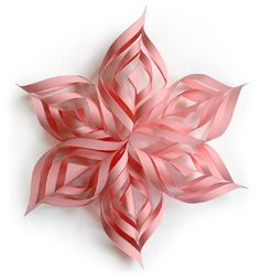 Lacy 3D Paper Snowflake TUTORIAL template for Large and Small snowflakes