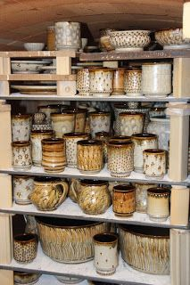 Around and About with Bulldog Pottery: New Moka Glaze Pottery just in time for Celebration of Seagrove Potters Weekend