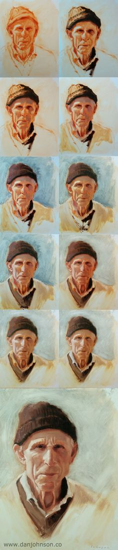 Painting a portrait by Dan Johnson. Click the image to read about the process.
