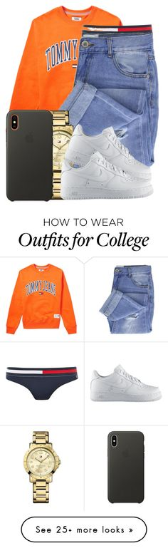 """Contest"" by jalay on Polyvore featuring Tommy Hilfiger, Taya, Apple and NIKE"