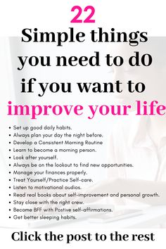 If youre a woman and want to improve your life or wondering how to have a better life here are self-improvement Tips activities ideas quotes & habits Inspiration best steps to Improving yourself personal growth habits / personal development/ goal setting Good Habits, Healthy Habits, Healthy Life, Self Development, Personal Development, How To Better Yourself, Improve Yourself, Struggles In Life, Self Care Activities