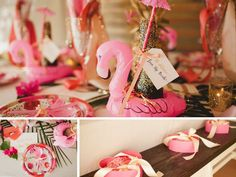 A Flamingo Themed Bachelorette Party