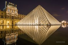 The Louvre and Pyramid by Wilhelm Chang on 500px