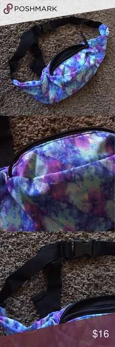 Watercolor festival fanny pack!  Brand new/ never worn fanny pack! Has a cute watercolor flowery pattern and holds a lot for its compact size :-) reasonable offers welcome! Brandy Melville for exposure ✅check out all my items on vinted & mercari for less! ✨ Brandy Melville Bags