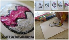 Tactile Benefits... Adding glitter to therapy! Glitter Colouring! Your Kids OT