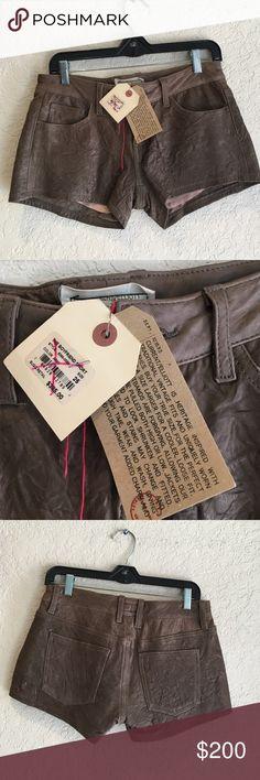 NWT Current Elliott Leather Boyfriend Shorts $385 NWT Current Elliott Leather Boyfriend Shorts $385 Current/Elliott Shorts