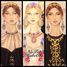 Models close-up  inspiredby @dolcegabbanaofficial @dolcegabbanafashion #dolcegabbana #art #blonde #brunette #budapest #beautiful #dxb #dubai #drawing #flower #fashion #fashionista #gal #hungary #italy #kuwait #model #makeup #marieclairekw #nyc #paint #painting #q8 #russia #sexy #spain #sketch #vogue #illustration #illustrate