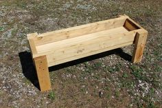I'd like to have a simple wooden trough for Wilbur in the farm. It with the fence would help set the scene in the barn