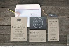 Rustic stationery with a romantic twist | Photographer: Life in Bloom, Styling: Sunshine & Confetti