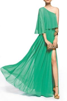 $178.00 TAILORING PARTY DRESS ZEILE One Shoulder Evening Gown
