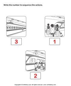 Print And Learn Picture Sequence Worksheets , Free